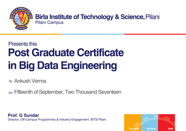 Online Big Data Course & Certification With BITS Pilani | UpGrad